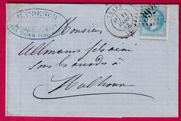 N°29 BELLE VARIETE DE PICQUAGE GC 3926 THANN HAUT RHIN POUR MULHOUSE TEXTE DE RAMMERSMATT - 1849-1876: Klassieke Periode