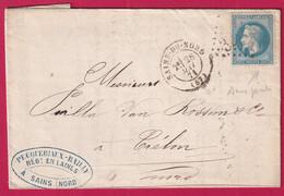 N°29A VARIETE SANS POINTS GC 3264 SAINS DU NORD POUR TRELON NORD - 1849-1876: Klassieke Periode