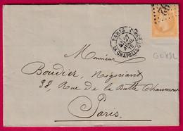 N°28 GC 892 PARIS LA CHAPELLE ST DENIS POUR PARIS BUTTE CHAUMONT RECETTES REUNIES - 1849-1876: Klassieke Periode