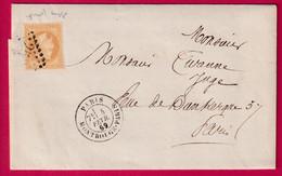 N°28 VARIETE SANS POINT GC 2523 PARIS MONTROUGE PARIS POUR PARIS RECETTES REUNIES - 1849-1876: Klassieke Periode
