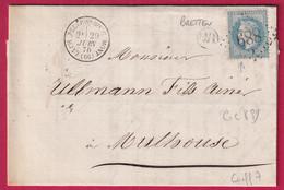 N°29 GC 889 LA CHAPELLE SOUS ROUGEMONT HAUT RHIN OR BRETTEN POUR MULHOUSE - 1849-1876: Klassieke Periode