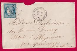 N°45B GC 937 CHATEAUNEUF DU FAOU FINISTERE POUR QUIMPER - 1849-1876: Klassieke Periode