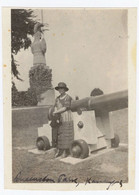 1920's Cannon At Queenston Heights Park Brock's Monument Niagara Falls - Vintage Photo Snapshot - Lugares