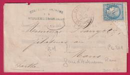 N°60 BDF PC DU GC 211 CAD GARE AUBUSSON 1871 BOITE MOBLE HOUILLERES D'AHUN CREUSE INDICE 14 + BM - 1849-1876: Klassieke Periode