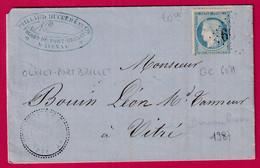 N°37 GC 6071 OLIVET PORT BILLET MAYENNE CAD TYPE 24 POUR VITRE BUREAU DE PASSE 1987 LAVAL INDICE 13 - 1849-1876: Klassieke Periode