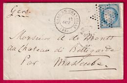 N°60 GARE DE CHANTILLY OISE ETOILE PLEINE DE PARIS POUR MASSEUBE GERS - 1849-1876: Klassieke Periode