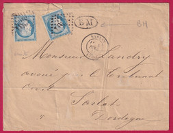 N°60 GC SARLAT DORDOGNE QUADRUPLE PORT LOCAL POUR SARLAT - 1849-1876: Klassieke Periode
