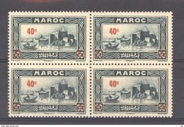 Maroc  :  Yv  162  **  Bloc De 4 - Unused Stamps
