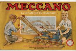 Manuel D'instructions 1Meccano La Mécanique En Miniature - Format : 31x19cm Soit 17pages - Meccano