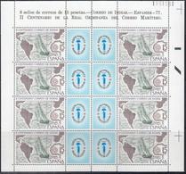SPANIEN  2330 Kleinbogen, Postfrisch **, Internationale Briefmarkenausstellung ESPAMER '77, Barcelona, 1977 - Blocks & Kleinbögen