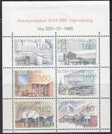 FINNLAND  Heftchenblatt 18, Postfrisch **, Architektur, 1986 - Markenheftchen