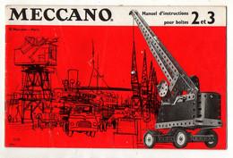 Manuel D'instructions Pour Boites 2 Et 3 Meccano - Format : 26.5x17cm Soit 25pages - Meccano