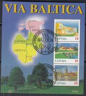LETTLAND Block 5, Gestempelt, VIA BALTICA, 1995 - Letonia