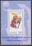 LETTLAND Block 4, Postfrisch **, Olympische Winterspiele Lillehammer, 1994 - Latvia