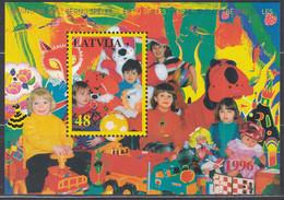 LETTLAND Block 8, Postfrisch **, Kinderspiele, 1996 - Latvia