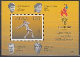 LETTLAND Block 9, Postfrisch **, Olympische Sommerspiele Atlanta, 1996 - Latvia