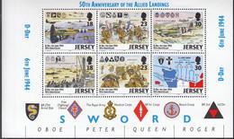 JERSEY  Heftchenblatt 13, Postfrisch **, 50 Jahre Landung Der Alliierten, D-Day, 1994 - Jersey