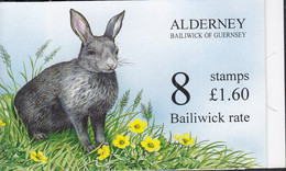 ALDERNEY  Markenheftchen 0-5 Mit 8x 76 D, Postfrisch **, Wildkaninchen, 1994 - Alderney