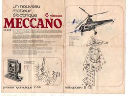 Dépliant Un Nouveau Moteur électrique 6 Vitesses Meccano Ref.228 - Format : 20x13.5cm Soit 8pages - Meccano