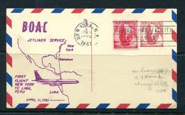 USA  1961 Uprated  Postal Stationary Cards 1st Flight To Peru 11502 - 1961-80