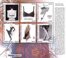 ITALIA - REPUBBLICA - 2002 - Design Italiano - Creazioni Della Moda Italiana - BF33 - Nuovo - MNH** - Blocks & Sheetlets