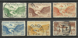 PANAMA CANAL ZONE 1931 & 1939 Air Mail Flugpost Air Planes O - Airplanes