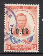 #30, Honduras, Lincoln, Airmail, Drapeau, Flag - Honduras