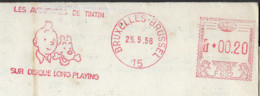 KUIFJE / TINTIN DRUKWERK Uit 1956 Met RODE Stempel LES AVONTURES DE TINTIN SUR DISQUE LONG PLAYING ! LOT 333 - Autres