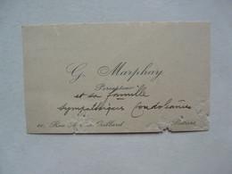 VIEUX PAPIERS - CARTE DE VISITE  : G. MARPHAY - Percepteur - Cartoncini Da Visita