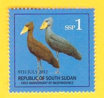 SOUTH SUDAN 2nd Issue = Süd-Sudan 1 SSP Shoe-Billed Stork Birds Oiseaux SOUDAN Soedan - Zuid-Soedan