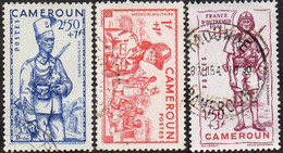 Cameroun Obl. N° 197 à 199 - Défense De L'Empire - Usati