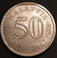 MALAISIE - 50 SEN 1967 - KM 5.1 - Tranche Sécurisée - Security Edge - ( MALAYSIA ) - Malaysia
