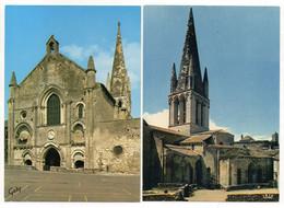 2  CPSM   79   AIRVAULT      -   EGLISE ABBATIALE SAINT PIERRE - Churches & Convents