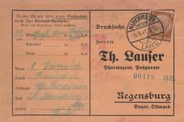 Deutsches Reich Karte Mit Landpoststempel Groß Rosainen über Marienwerder Westpreussen 1941 Rozajny Werbung - Briefe U. Dokumente