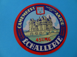 Etiquette De Camembert Echallerie 49 Anjou Maine Et Loire - Fromage