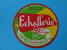 Etiquette De Camembert Echallerie 49 C - Fromage