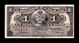 Cuba 1 Peso 1896 Pick 47a MBC VF - Cuba