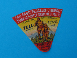 Etiquette Fromage Portion - Fromage