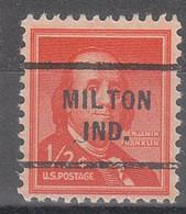 USA Precancel Vorausentwertungen Preos, Locals Indiana, Milton 712 - Precancels