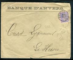Belgique - Perforé Sur Enveloppe Commerciale De Anvers Pour Le Havre En 1887 - Prix Fixe !!! - Ref S 162 - 1863-09