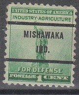 USA Precancel Vorausentwertungen Preos, Bureau Indiana, Mishawaka 899-71 - Precancels