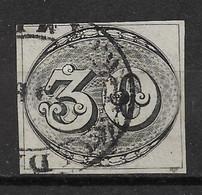 BRESIL N°1 Signé J.F. Brun Oblitéré - TTB Parfait - 4 Splendides Marges - Used Stamps