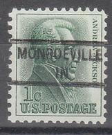 USA Precancel Vorausentwertungen Preos, Locals Indiana, Monroeville 841 - Precancels