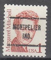 USA Precancel Vorausentwertungen Preos, Locals Indiana, Montpelier 713 - Precancels