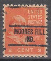USA Precancel Vorausentwertungen Preos, Locals Indiana, Moores Hill 734 - Vorausentwertungen
