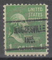 USA Precancel Vorausentwertungen Preos, Locals Indiana, Mooresville 722 - Vorausentwertungen