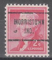 USA Precancel Vorausentwertungen Preos, Locals Indiana, Morristown 713 - Vorausentwertungen