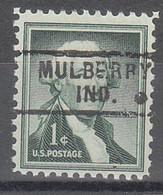 USA Precancel Vorausentwertungen Preos, Locals Indiana, Mulberry 729 - Precancels