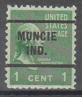 USA Precancel Vorausentwertungen Preos, Locals Indiana, Muncie 255 - Precancels