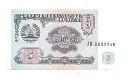 Tajikistan 5 Rubles 1994  2  Unc - Tajikistan